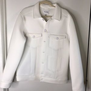 GUESS HIS AND HERS OVERSIZE PURE WHITE JACKET